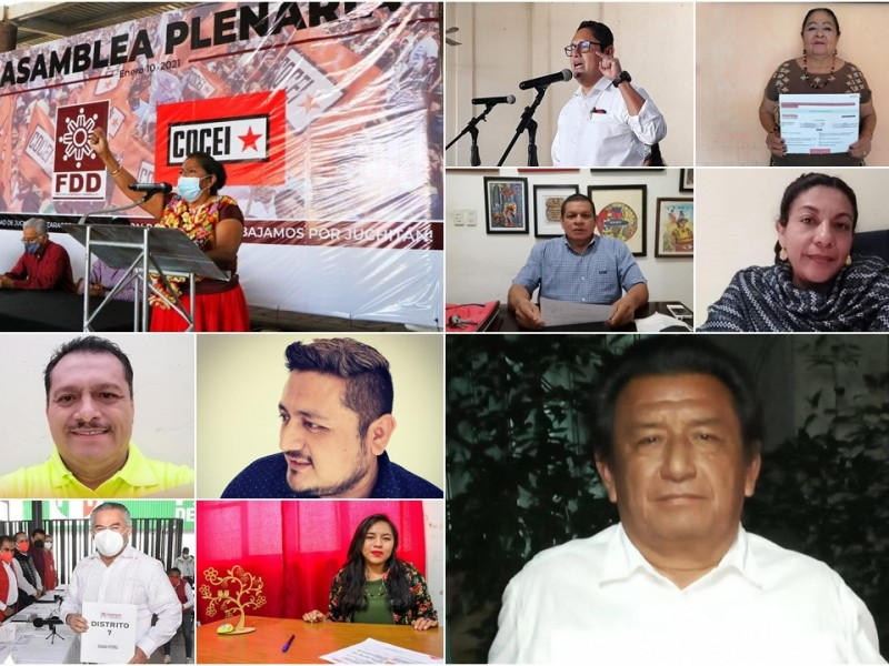 10 aspirantes buscan candidaturas para la presidencia municipal de Juchitán