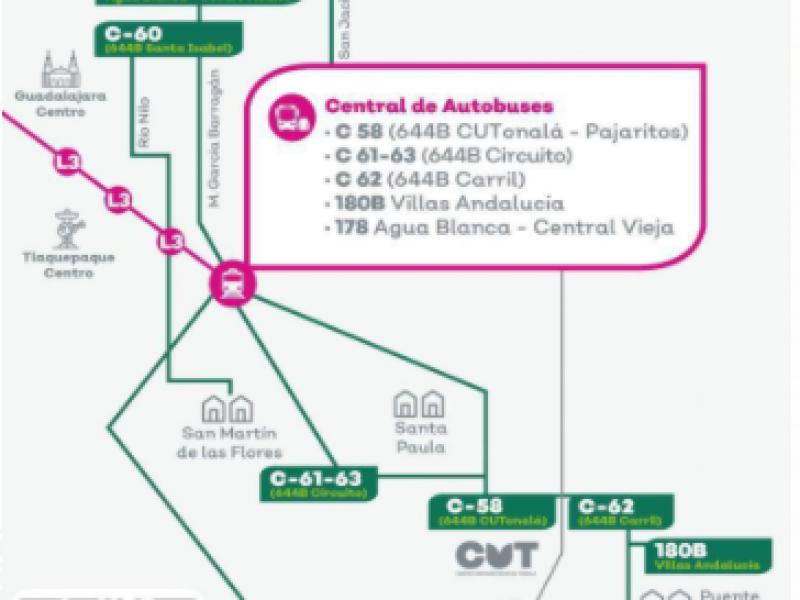 10 Rutas del transporte público cambiarán derrotero por L3
