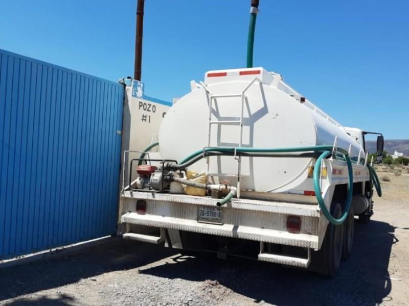 11 camiones cisternas abastecerán agua potable en Guadalupe y Zacatecas