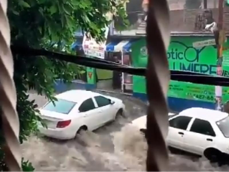 11 inundaciones por lluvias en la CDMX