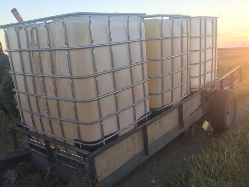 11 mil litros de huachicol asegurado en Colón