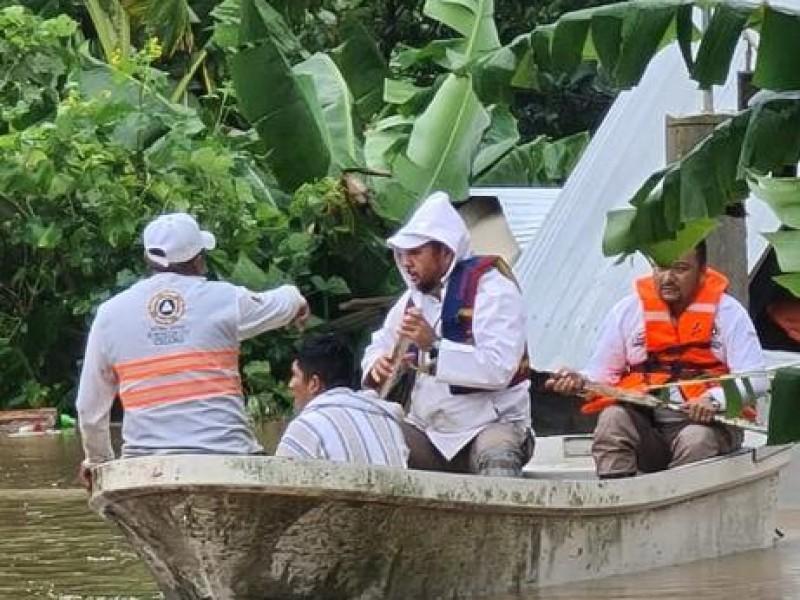 11 Regiones y 35 municipios afectados por lluvias en Chiapas