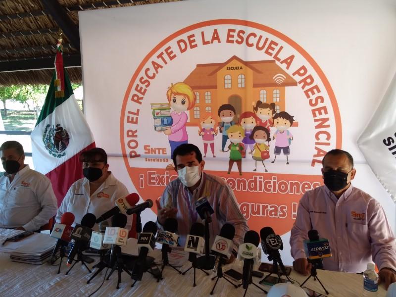 121 escuelas del SNTE 53 regresarán a clases presenciales