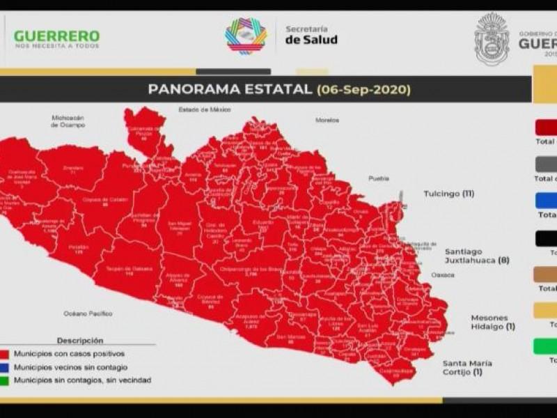 130 nuevos casos Covid-19 se suman a Guerrero