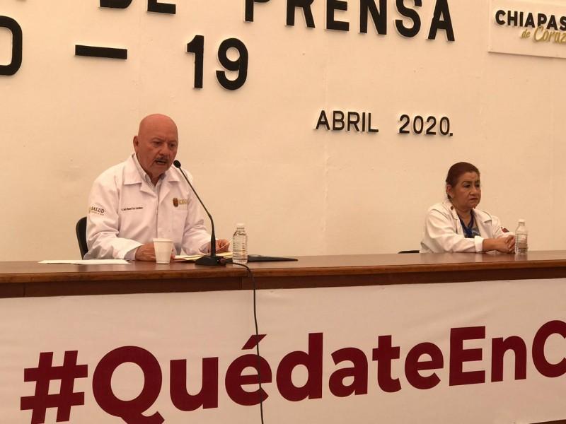 15 casos de COVID-19 en un día registra Chiapas