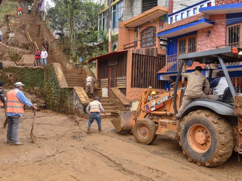 15 colonias de Xalapa en riesgo por deslaves