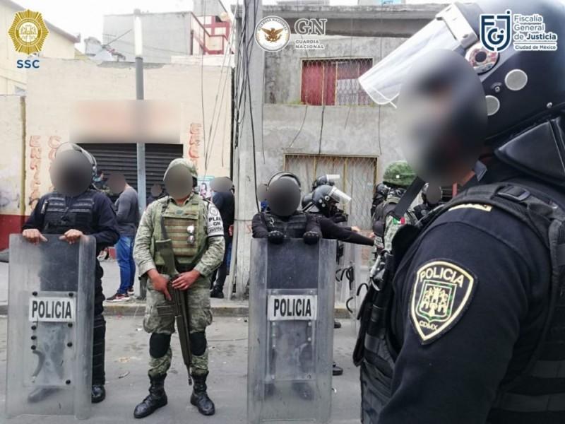 15 detenidos durante operativo en Cdmx