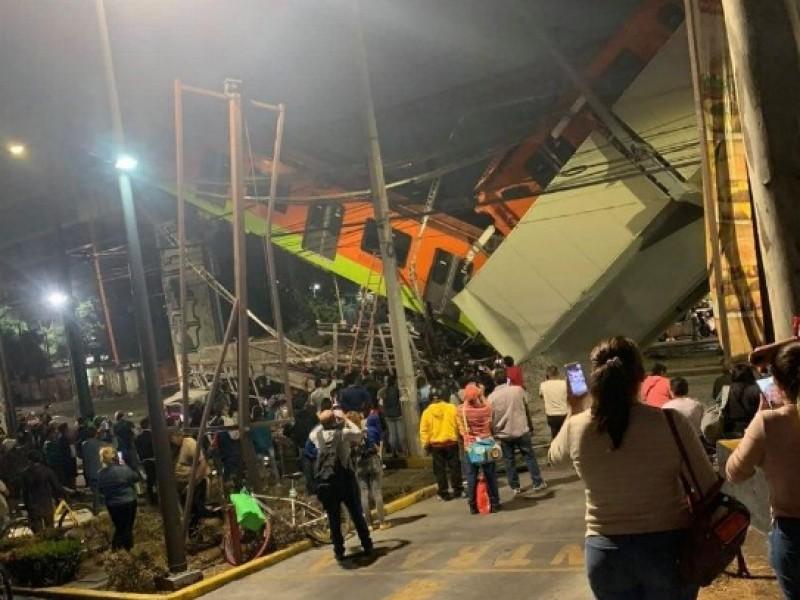 15 muertos deja colapso del metro en CDMX