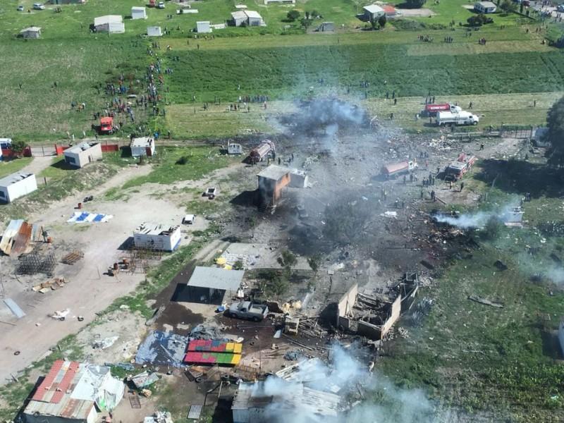 Suspenden producción de pirotecnia en Tultepec