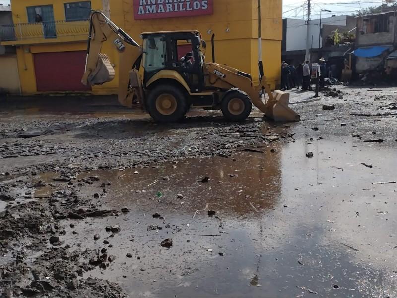 17 colonias afectadas por desbordamiento de Arroyo Seco