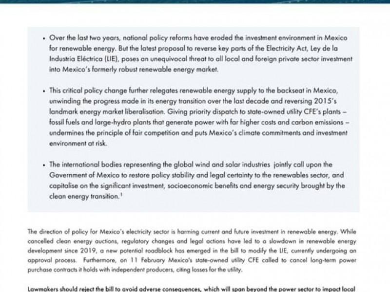17 mil empleos en riesgo por reforma energética