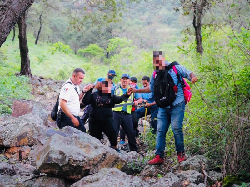17 personas rescatadas en cerro de San Luis de Lozada