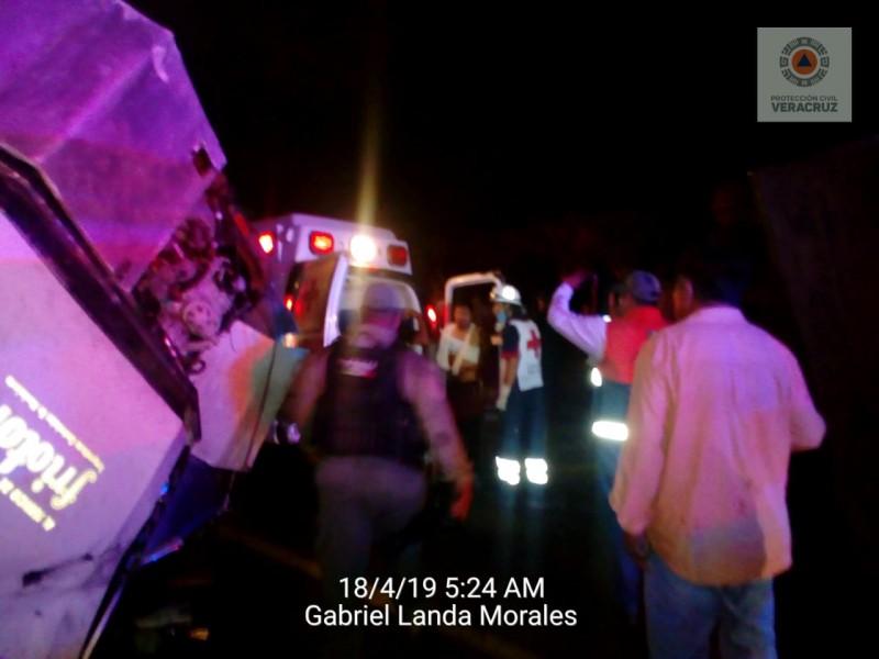 19 migrantes lesionados en accidente de Palma Sola