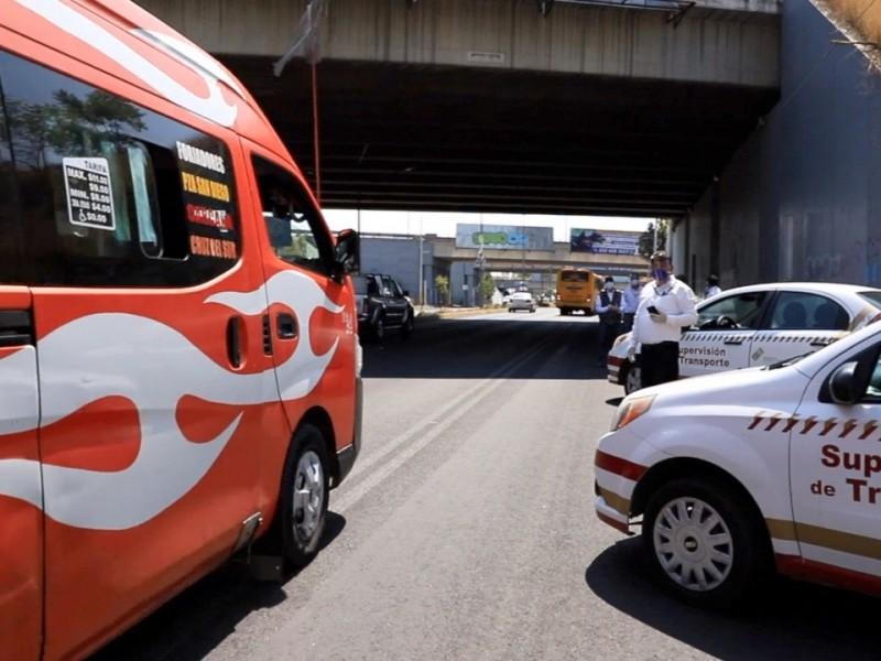 19 unidades del transporte público sancionadas por sobrecupo