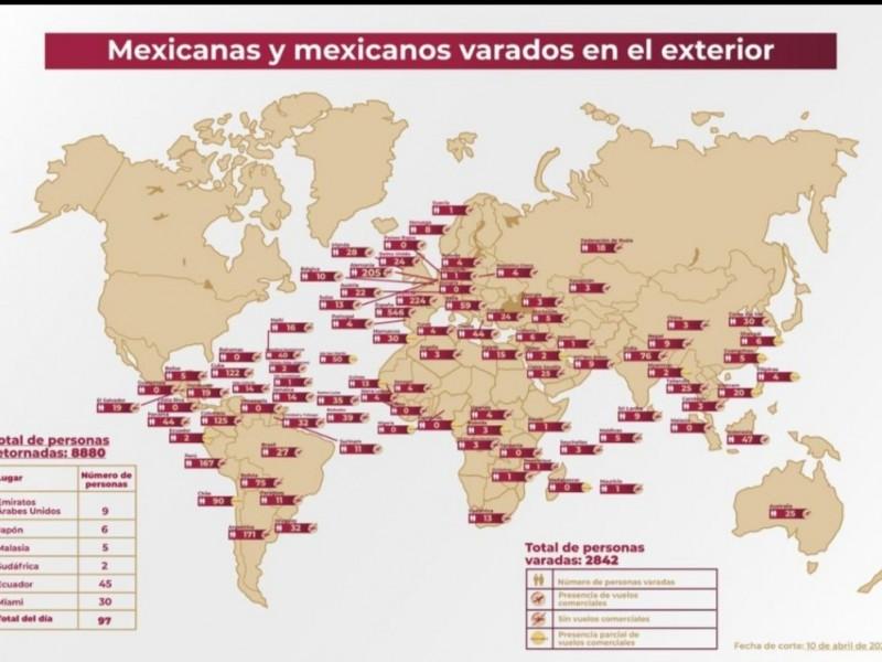 2, 842 mexicanos siguen varados en otros países: Ebrard