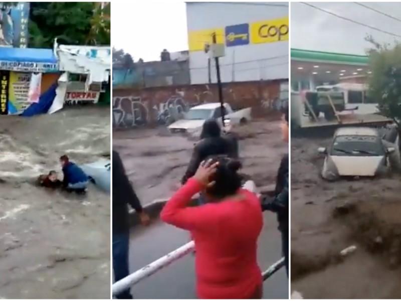 2 muertos por graves inundaciones en Ecatepec