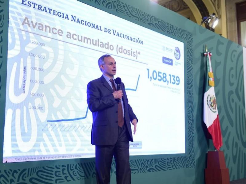 20% de adultos mayores vacunados, sería gran avance: López Gatell