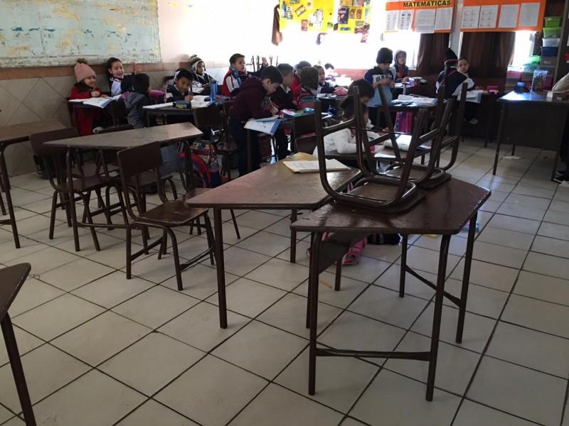 20% de ausentismo en escuelas por bajas temperaturas