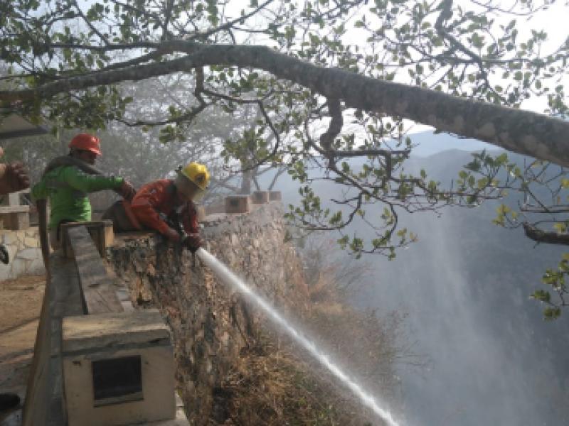 20 días de combate de incendio del Cañón del Sumidero