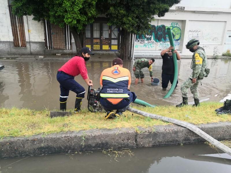 20 milímetros de lluvias se registraron en Gómez Palacio