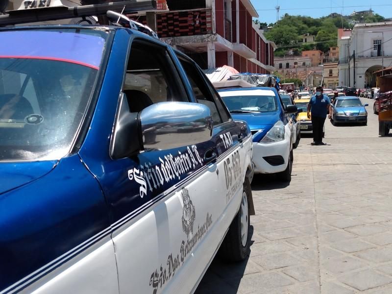 2020 un año sin festejos para taxistas de Tehuantepec