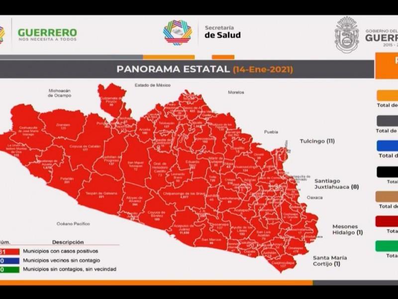 224 nuevos casos COVID-19 en Guerrero en 24 horas