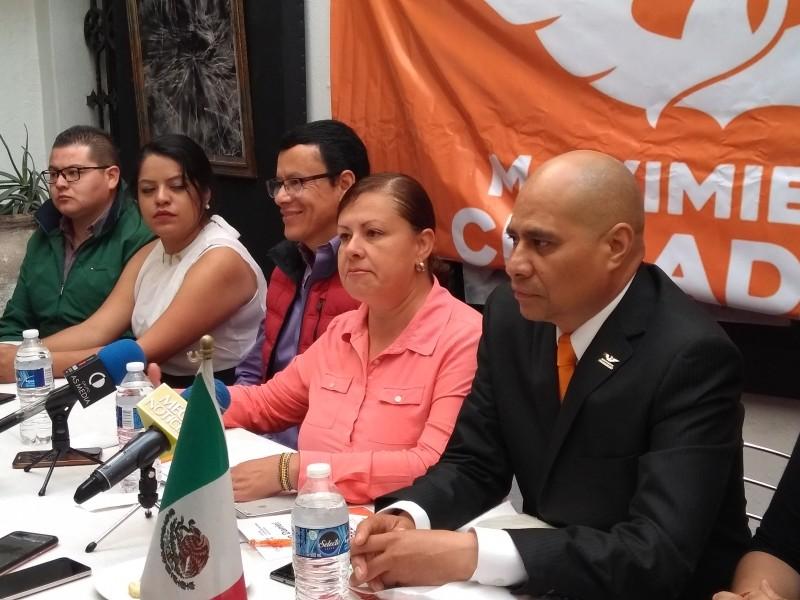 238 liderazgos de Movimiento Ciudadano con Barbosa