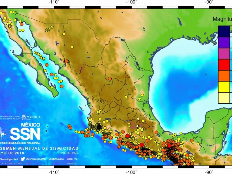 2489 sismos durante mayo: SSN