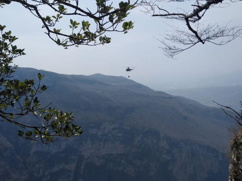 25 días activo incendio en Cañón del Sumidero