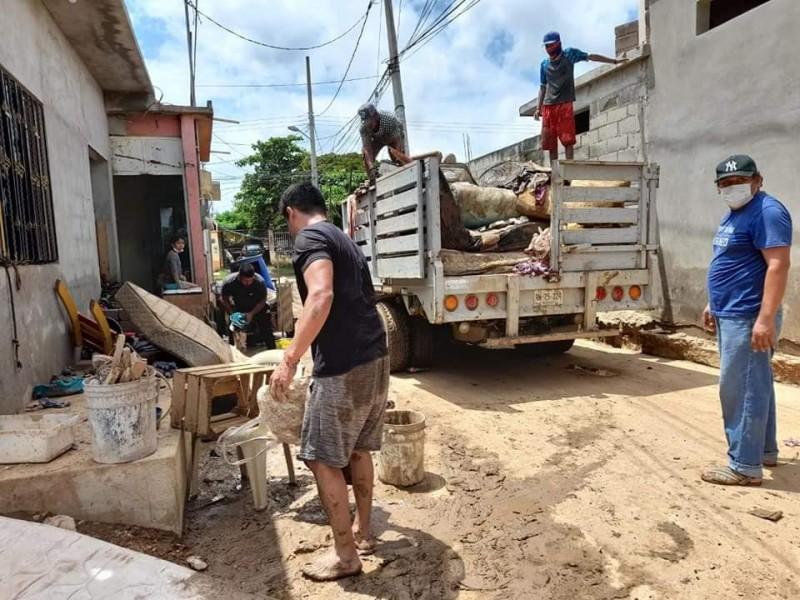 2500 casas resultaron afectadas por lluvias en La Ventosa