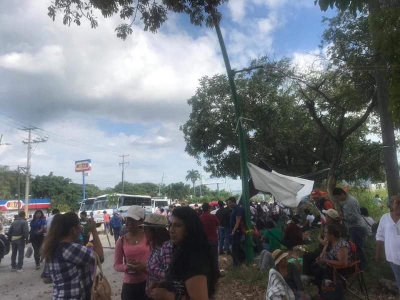 27 bloqueos activos en Chiapas