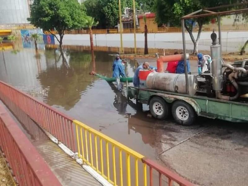 3 afectaciones dejó lluvia en Cd. Obregón