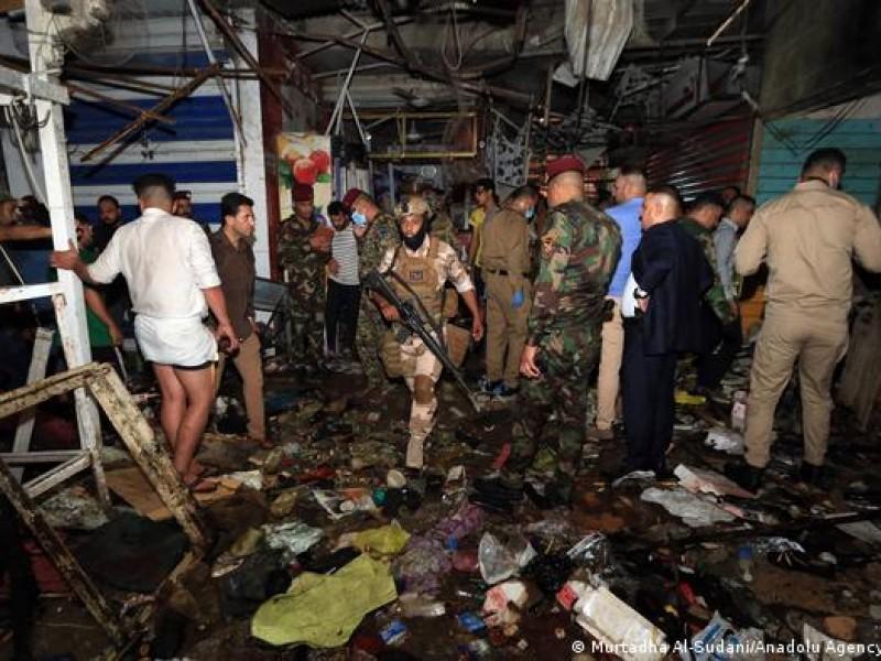 35 muertos por atentado suicida en un mercado de Bagdad