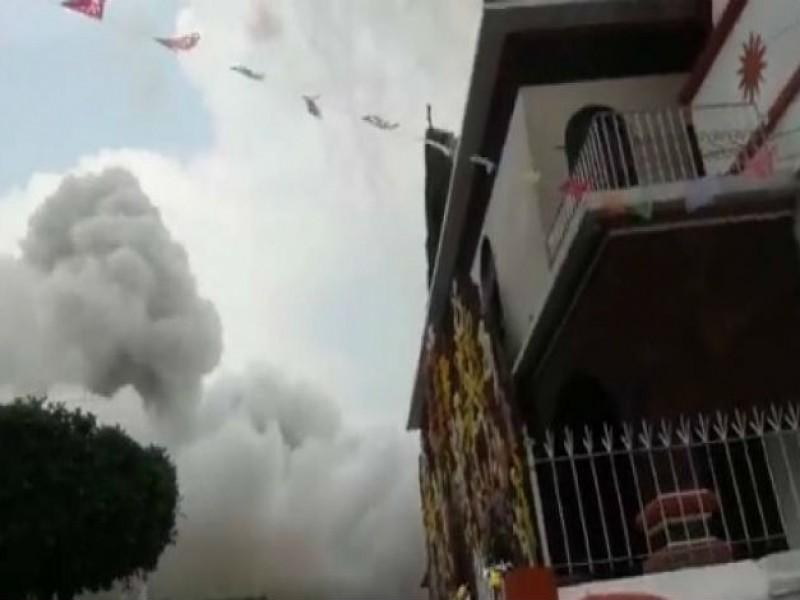 4 lesionados por explosión de pirotecnia en Coyoacán