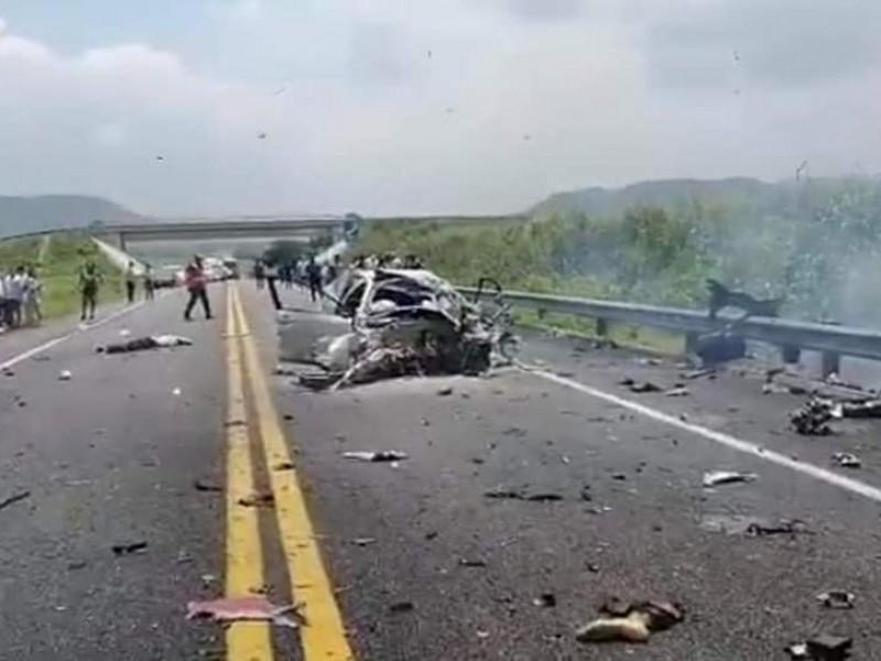 4 muertos deja accidente carretero en Chiapas