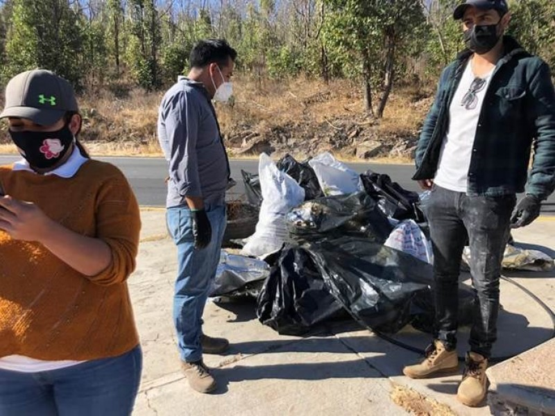 Fueron 40 toneladas de basura recolectadas en la Bufa
