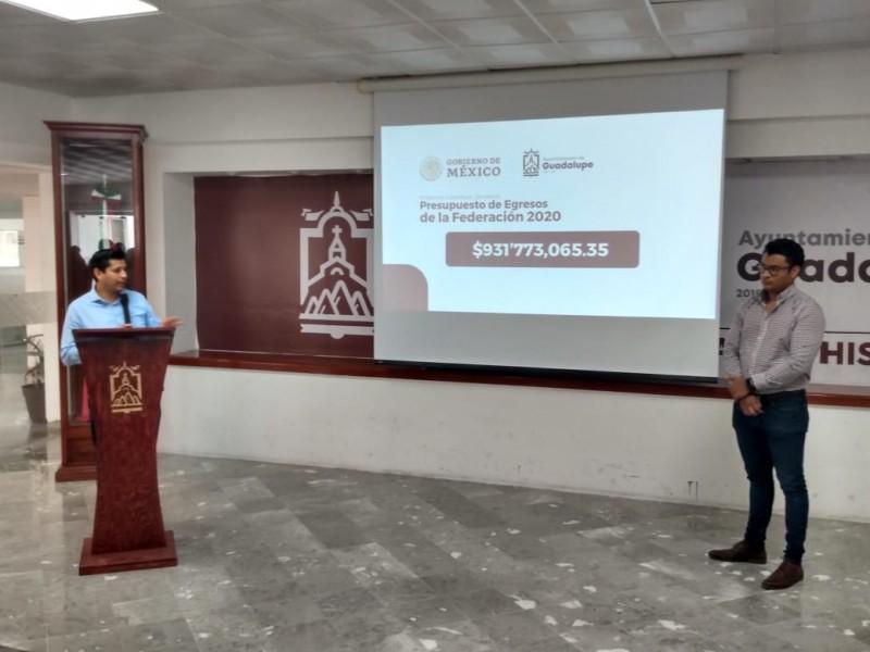 423 obras para Guadalupe registradas ante la Federación