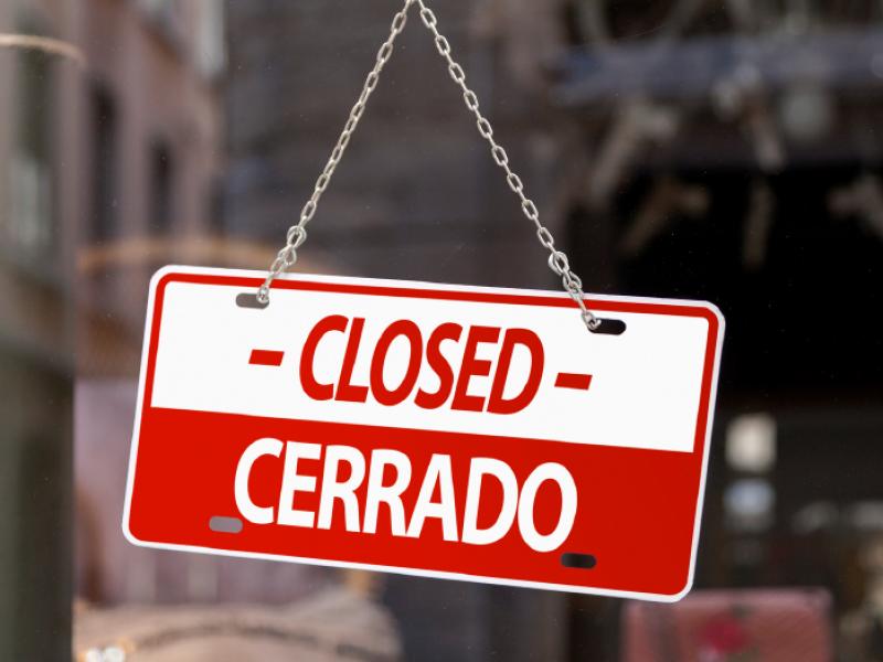 43 restaurantes cierran a causa de la contingencia sanitaria