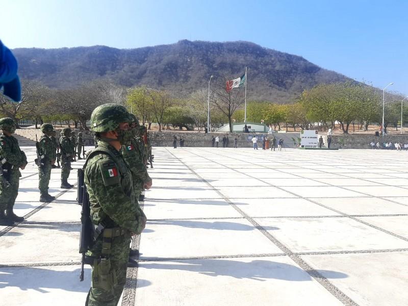 46 Zona Militar conmemora Día de la Bandera