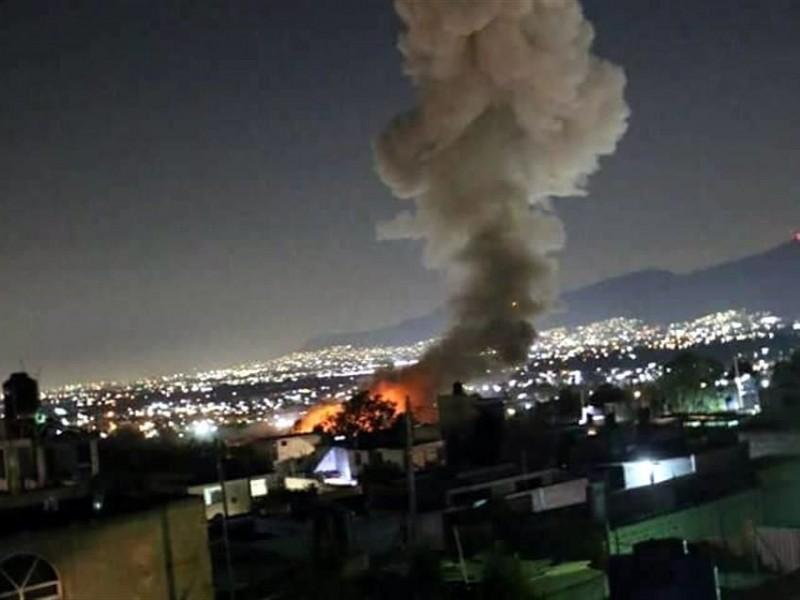 5 muertos por explosión en Tultepec