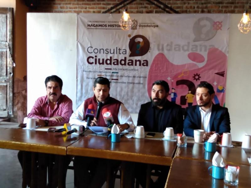 Realizarán consulta ciudadana en Guadalupe