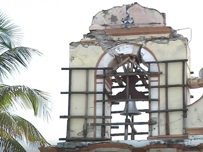 57% avance de reconstrucción en templos afectados