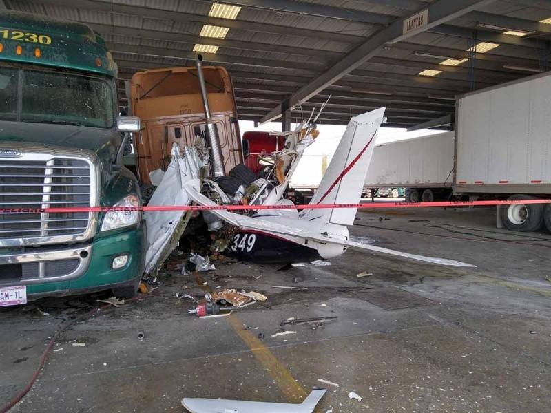 6 muertos por desplome de avioneta en Nuevo León