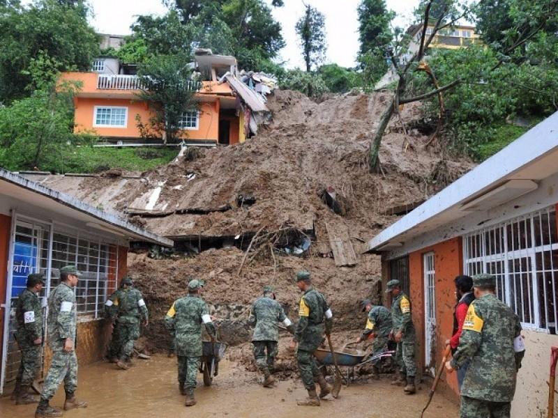 60 colonias de xalapa en riesgo de deslaves por lluvias