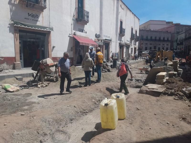 60% de avance en la remodelación de la calle Allende