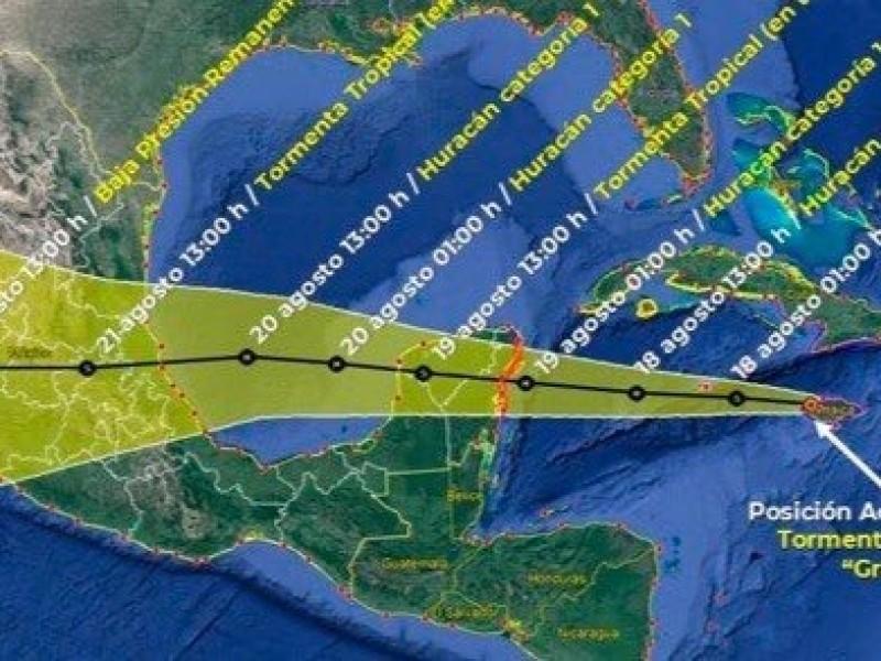 63 municipios poblanos se verán afectados por el Huracán Grace