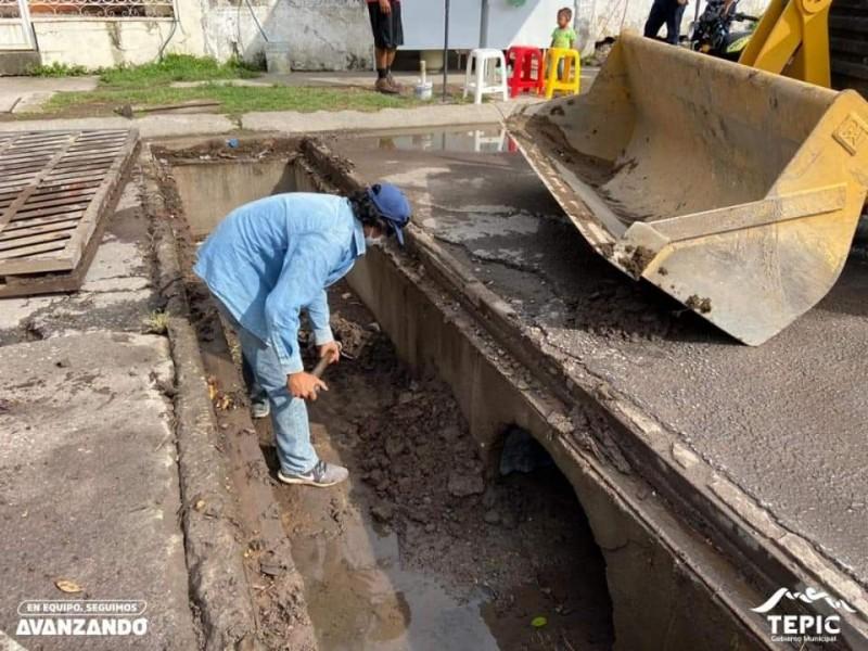 69% de avance presenta limpieza de rejillas en Tepic