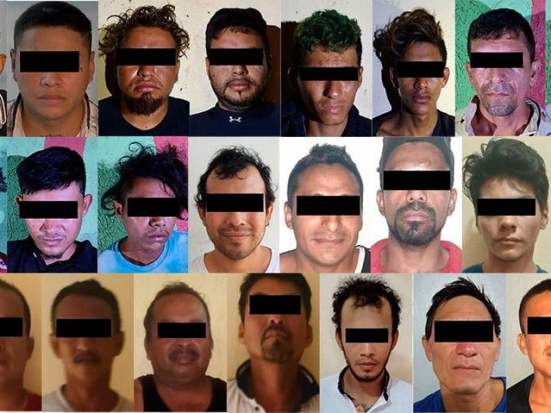 72 detenciones realizó la FGE tras implementación de Operativo Antipandillas