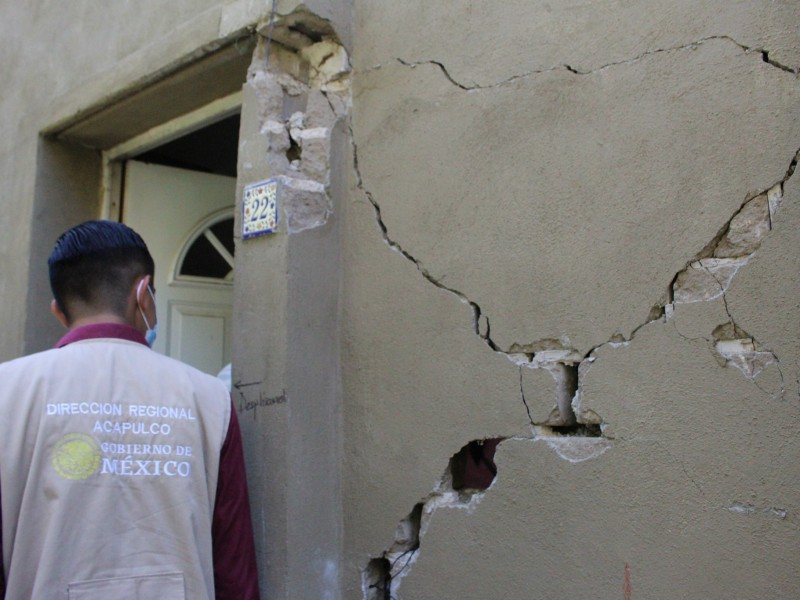 8,492 viviendas han sido censadas por sismo en Guerrero
