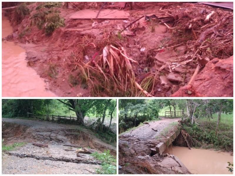 9 comunidades incomunicadas por lluvias en Santo Domingo Petapa